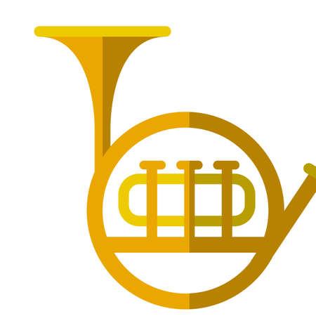 Tuba musical instrument flat icon, vector sign, colorful pictogram isolated on white. Symbol, logo illustration. Flat style design Illustration