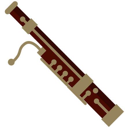 Icona piatta dello strumento musicale del fascio, segno vettoriale, pittogramma colorato isolato su bianco. Simbolo, illustrazione del logo. Disegno in stile piatto