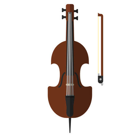 Cello musical instrument flat icon, colorful pictogram isolated on white