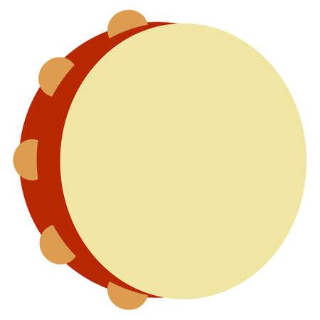 Icona piatta dello strumento musicale tamburello