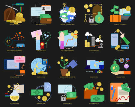 money packs: Business theme elements collection
