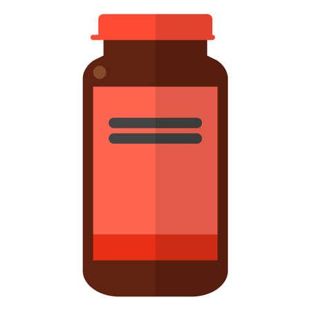 Fles met antidepressiva illustratie.