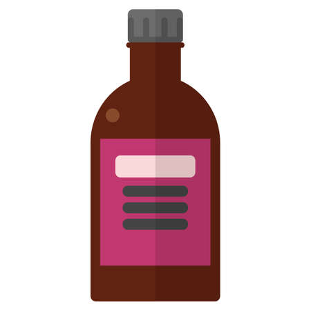 Bottle with hydrogen peroxide illustration.