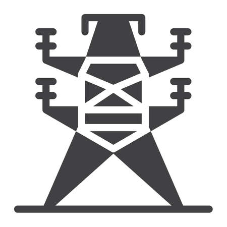 Electric tower icon. Ilustracja
