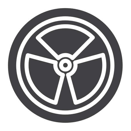 Nuclear power icon.