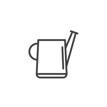 Watering can line icon, outline sign, linear style pictogram isolated on white.