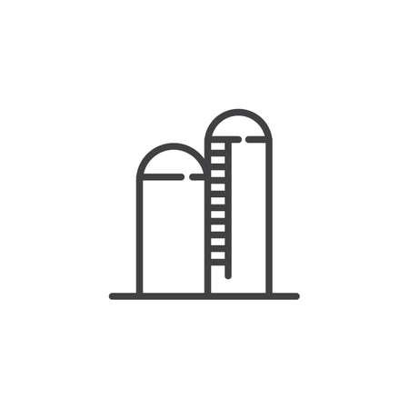 Silo line icon.