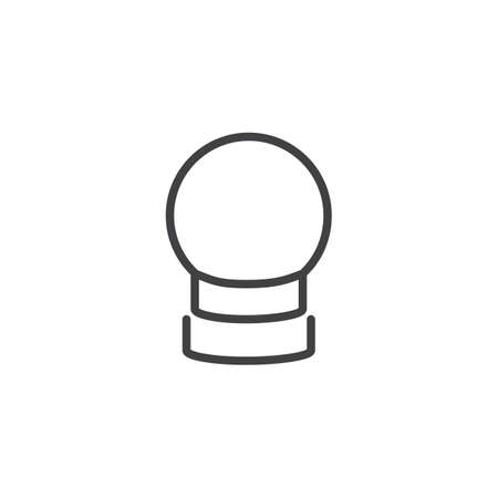 calendar design: Crystal ball line icon, linear style pictogram isolated on white. Illustration