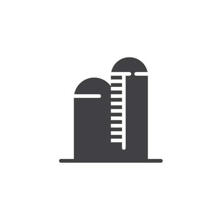 Silo icon, symbol, filled flat sign, solid pictogram illustration.