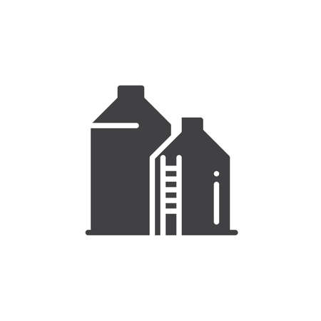 Silo icon vector, filled flat sign, solid pictogram isolated on white. Symbol, logo illustration