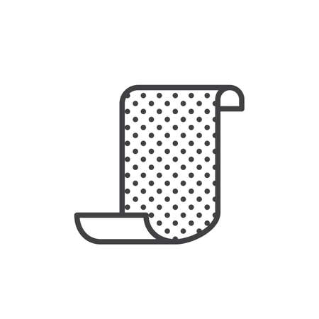 Sandpaper line icon, outline vector sign, linear style pictogram isolated on white. Symbol, logo illustration. Editable stroke
