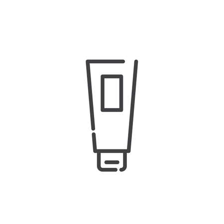 Hair gel line icon, outline vector sign, linear style pictogram isolated on white. Symbol, illustration. Editable stroke Banco de Imagens - 86211369