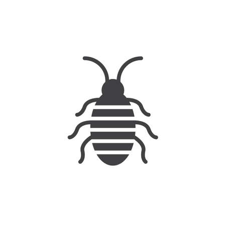 Cockroach icon vector, filled flat sign, solid pictogram isolated on white. Halloween holiday Symbol, logo illustration Illustration