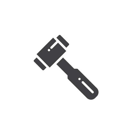 Hammer work tool icon vector