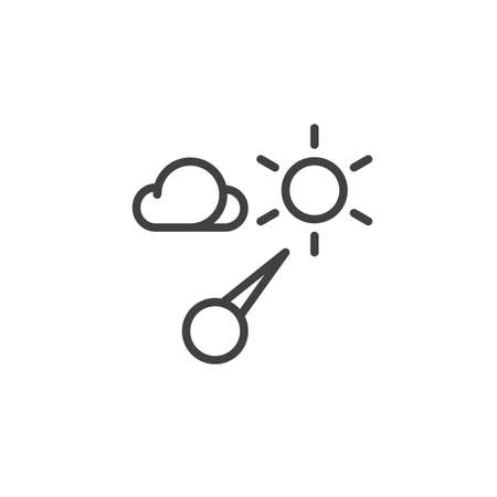Barometer line icon, outline vector sign, linear style pictogram isolated on white.
