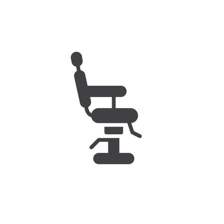 Barbershop chair icon vector, filled flat sign, solid pictogram isolated on white. Symbol, illustration.