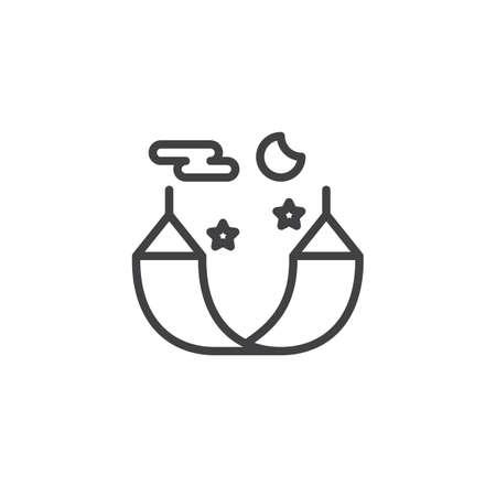 Sleep hammock line icon