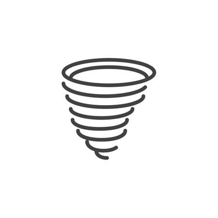 Tornado icon vector, filled flat sign, solid pictogram isolated on white. Symbol, logo illustration.
