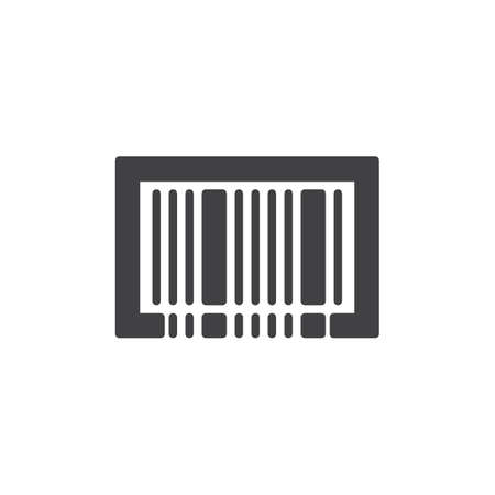 Barcode icon vector, filled flat sign, solid pictogram isolated on white. Symbol, logo illustration. Stock Photo