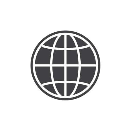 Browser globe icon Illustration