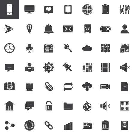 Jeu d'icônes d'outils Web Banque d'images - 86968429
