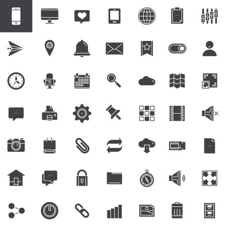 Web tools icons set