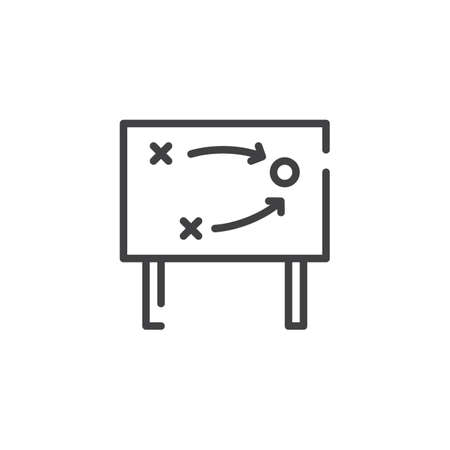 tactics: Tactics line icon, outline vector sign, linear style pictogram isolated on white. Symbol, logo illustration. Editable stroke