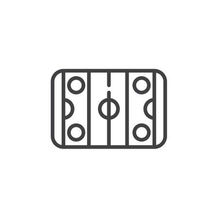 hockey goal: Hockey pitch line icon, outline vector sign, linear style pictogram isolated on white. Symbol, logo illustration. Editable stroke