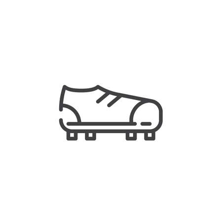 Soccer boots line icon, linear style pictogram, symbol, logo illustration with Editable stroke Banco de Imagens - 86968479