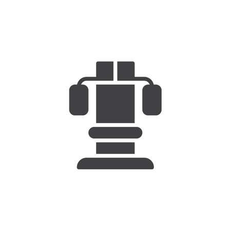 Training apparatus icon vector, filled flat sign, solid pictogram isolated on white. Symbol, logo illustration. Illustration
