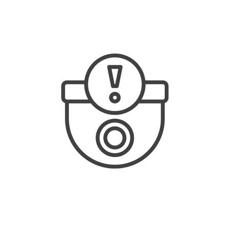 Security Camera View Line Icon Outline Vector Sign Linear Style