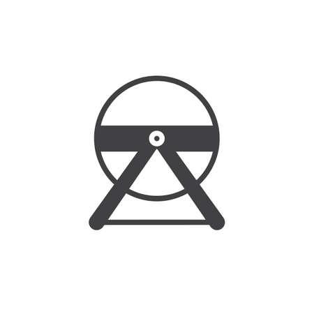 Hamsterradikonenvektor, gefülltes flaches Zeichen, festes Piktogramm lokalisiert auf Weiß. Symbol, Logo Abbildung. Standard-Bild - 87569562