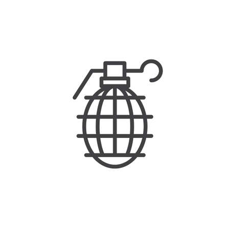 Grenade icon symbol illustration. Illustration