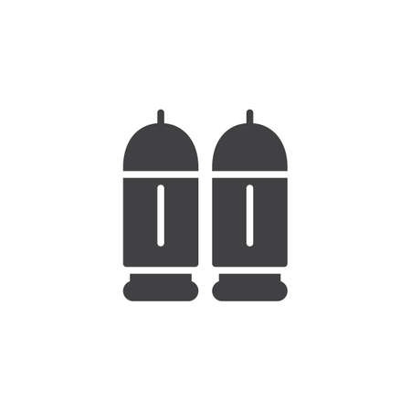 Bullets icon vector, filled flat sign, solid pictogram isolated on white. Illustration