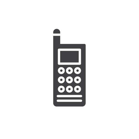 Walkie talkie icon vector, filled flat sign, solid pictogram isolated on white. Illustration