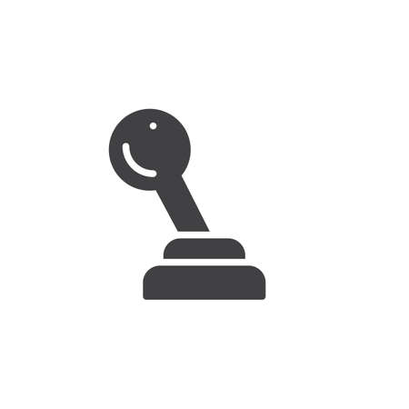 Gear shift icon. Illustration