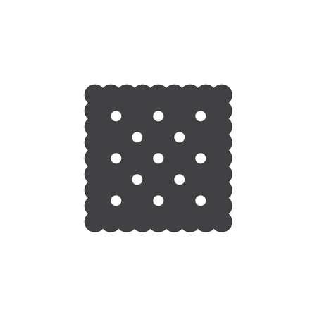 Cracker icon design illustration on white backdrop.