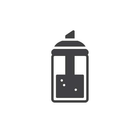 Sugar in glass sugar dispenser icon clip-art design illustration.