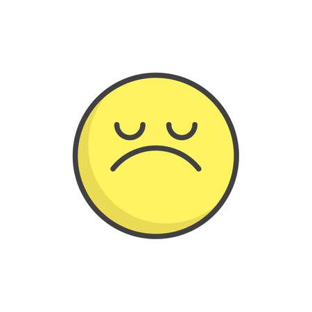 Arrogant face emoticon filled outline icon. 일러스트