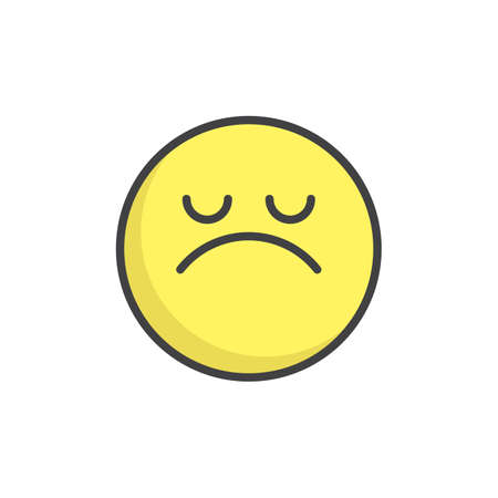 Arrogant face emoticon filled outline icon. Illustration