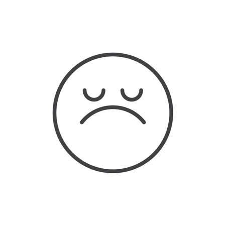 Arrogant face emoticon line icon, outline vector sign, linear style pictogram isolated on white. Emoji smiley symbol, logo illustration. Editable stroke Illustration