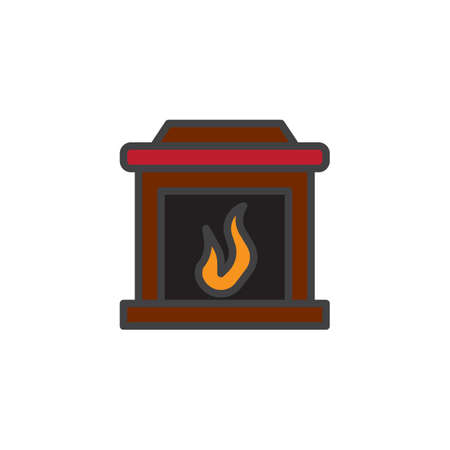 Fireplace icon Illustration