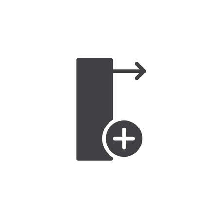 Insert column right icon vector, filled flat sign, solid pictogram isolated on white. Symbol, logo illustration. Фото со стока