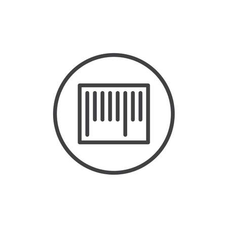Barcode line icon, outline vector sign, linear style pictogram isolated on white. Symbol, logo illustration. Editable stroke Illustration