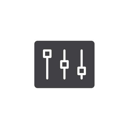 Settings bar icon vector, filled flat sign, solid pictogram isolated on white. Mixer, music equalizer symbol, logo illustration.