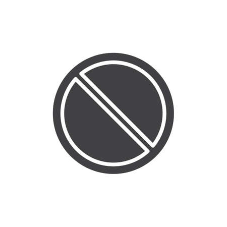 Access denied prohibition icon vector, filled flat sign, solid pictogram isolated on white. Symbol, logo illustration.