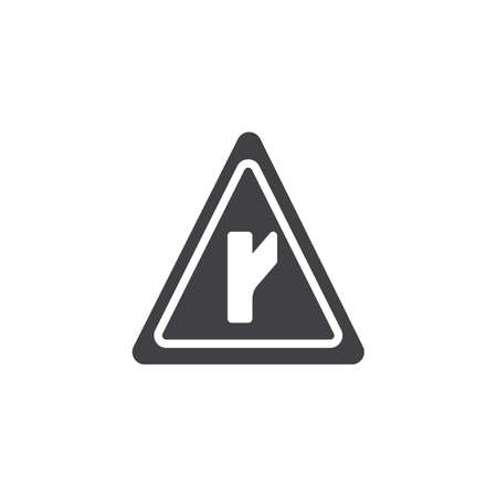 Intersection road signs icon vector, filled flat sign, solid pictogram isolated on white. Symbol, logo illustration.