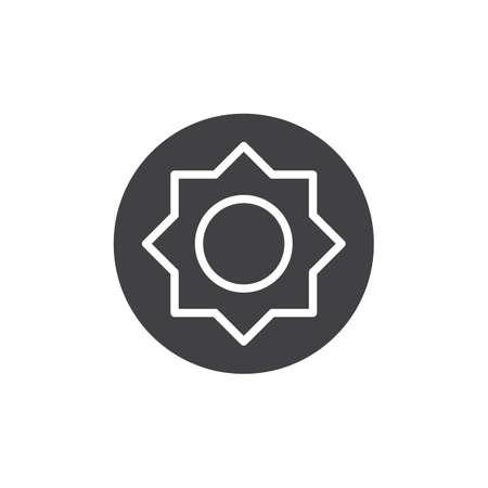 Maximum brightness setting icon vector, filled flat sign, solid pictogram isolated on white. Photo camera contrast mode symbol, logo illustration. Illustration
