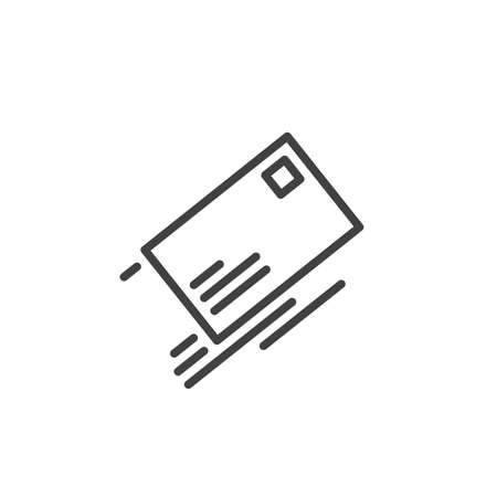 Envelope mail line icon, outline vector sign, linear style pictogram isolated on white. Sending a message symbol, logo illustration. Editable stroke