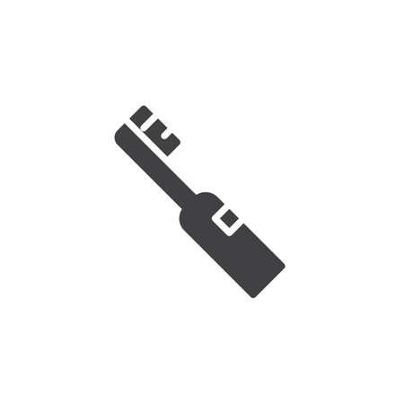Electric toothbrush icon flat sign illustration. Illustration